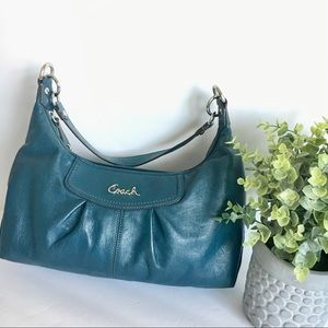 COACH Ashley Hobo. Size Med. Color: Peacock Blue.